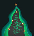 christmas greeting card with lettering vector image vector image