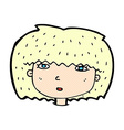 comic cartoon female face vector image vector image