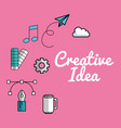 creative ideas set icons vector image