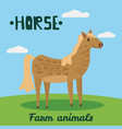 cute horse farm animal character farm animals vector image