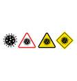 danger symbols coronavirus sign vector image vector image