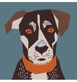 Dog flat head portrait vector image vector image