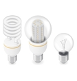Electric light bulbs isometric icon set vector image vector image