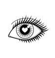 eye of lover icon vector image vector image