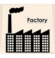 Factory design vector image