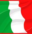flag italy italian national symbol vector image