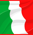 flag of italy italian national symbol vector image vector image
