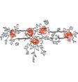 flowering branch vector image