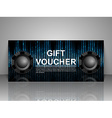 Gift voucher template Nightclub party vector image vector image
