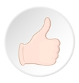 Hand with thumb up icon cartoon style vector image vector image