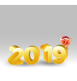happy chinese new year 2019 pig cartoon chinese vector image vector image