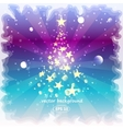 Happy New Year background with a frozen glass vector image vector image