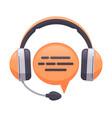 headphones support service online customer vector image vector image