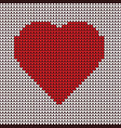 Heart embroidery on fabric pattern