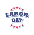 labor day america logo isolated on white vector image vector image