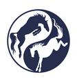 logo horse racing vector image