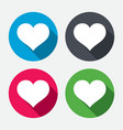 Love icon Heart sign symbol vector image vector image