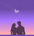 lovers sky vector image vector image