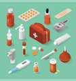 medical equipment isometric set vector image vector image