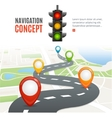 Navigation Concept vector image vector image