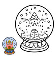 numbers game for children snowball with castle vector image vector image