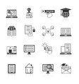 Online Education Icons Black vector image vector image
