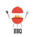 red barbecue concept flat bbq party grill party vector image vector image