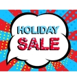 Sale poster with HOLIDAY SALE text Advertising vector image vector image