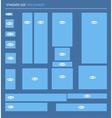 Set standard size web banners vector image