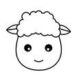 sheep face animal vector image
