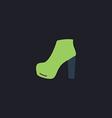 shoe computer symbol vector image vector image
