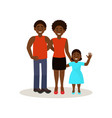 smiling afro american black family in casual vector image vector image