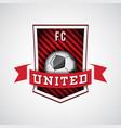 soccer logo football emblem vector image vector image