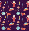 space discover pioneers seamless pattern vector image