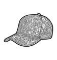 sports baseball caps hat sketch scratch board vector image vector image