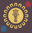 spring african sun symbol vector image