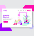 student creativity concept vector image vector image
