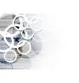 technological communication digital modern circle vector image vector image
