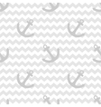 Tile sailor pattern with anchor on white and grey vector image vector image