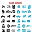 Transportation and car service flat icons vector image