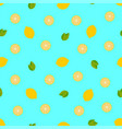 tropical fruits lemon seamless pattern background vector image vector image