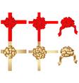 vector set of decorative bows vector image