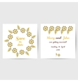 Wedding Postcard With Yellow Flowers vector image vector image