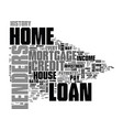 what home loan lenders look for in would be vector image vector image