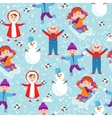 Winter kids seamless pattern vector image vector image