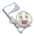 with flag mozzarella cheese isolated on mascot vector image