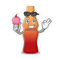 with ice cream cola bottle jelly candy character vector image