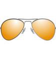 yellow sunglasses vector image vector image