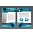 brochure annual report layout template vector image