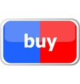 buy word on web button icon isolated on vector image